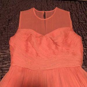 Peach Silk Dress